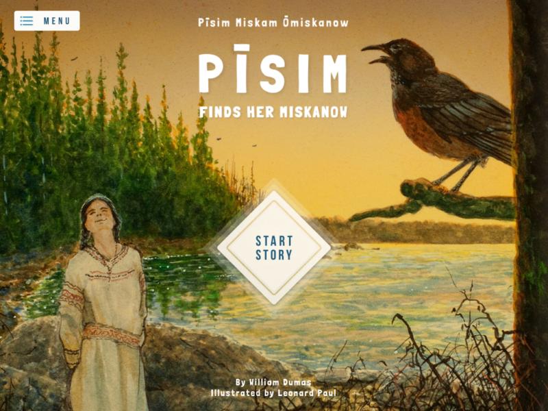 Picture Book App: Pisim Finds Her Miskanaw